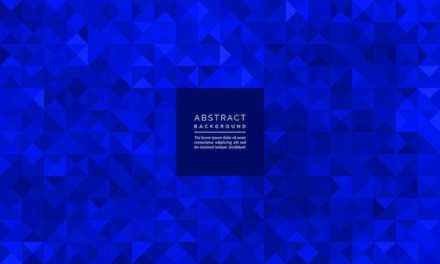 Glitter mosaico geometrico astratto di sfondo blu zaffiro