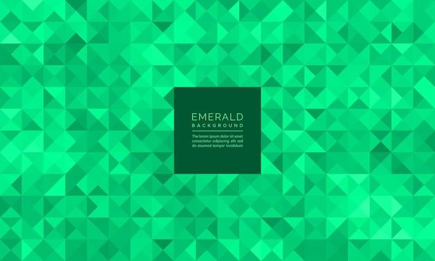 Scintillio geometrico astratto del mosaico del modello e dello sfondo verde smeraldo