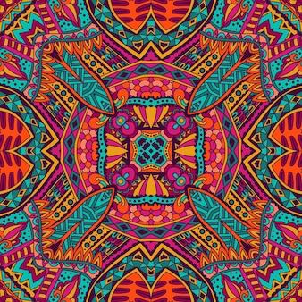 Mosaico geometrico astratto vintage etnico senza cuciture ornamentale
