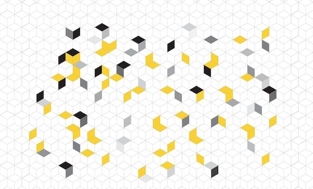 Modello senza cuciture geometrico astratto modello a cubi design moderno minimal