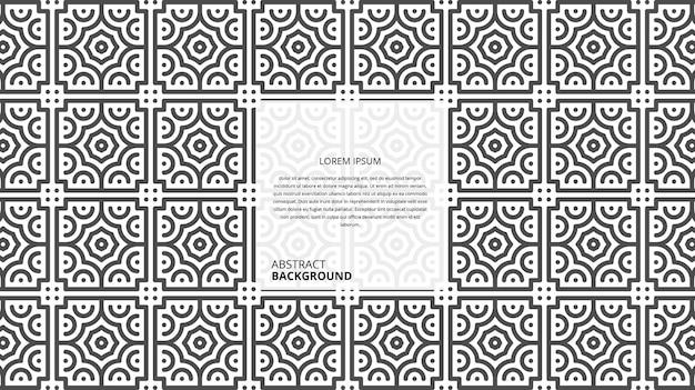 La forma geometrica astratta allinea il fondo con il modello del testo del campione