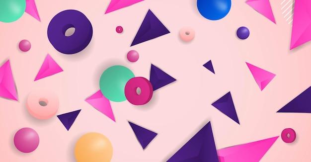Vettore realistico del fondo di forme geometriche astratte