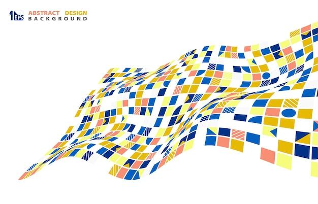 Modello di opera d'arte in stile modello di linea spaziale geometrica astratta. stile di copertina per lo sfondo del copricapo. illustrazione vettoriale