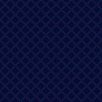 Fondo senza cuciture blu del modello dei quadrati geometrici astratti