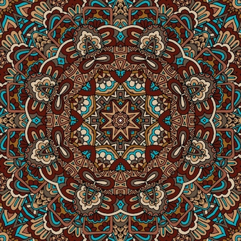 Piastrelle geometriche astratte ornamentali senza cuciture etniche bohémien