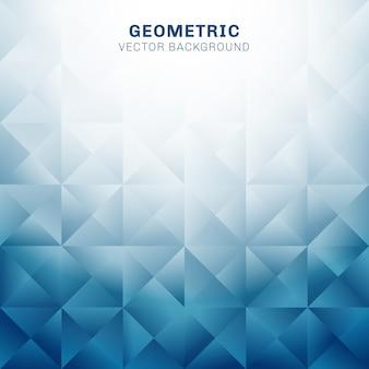 Triangoli geometrici astratti modello sfondo blu