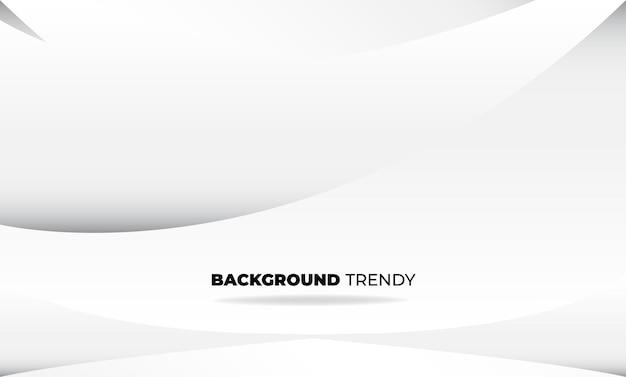 Fondo geometrico astratto della società di fornitura visiva di colore bianco e grigio