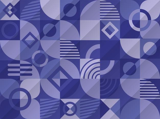 Sfondo geometrico astratto in colore blu.