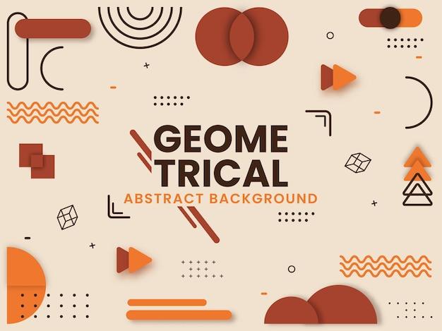 Sfondo geometrico astratto può essere utilizzato come poster design.
