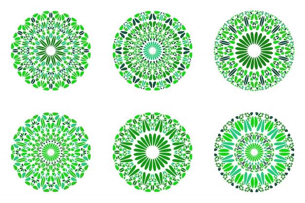 Insieme di simboli di pietra geometrico astratto della mandala