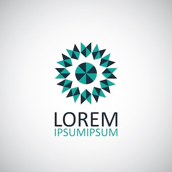 Logo simbolo geometrico astratto su sfondo bianco