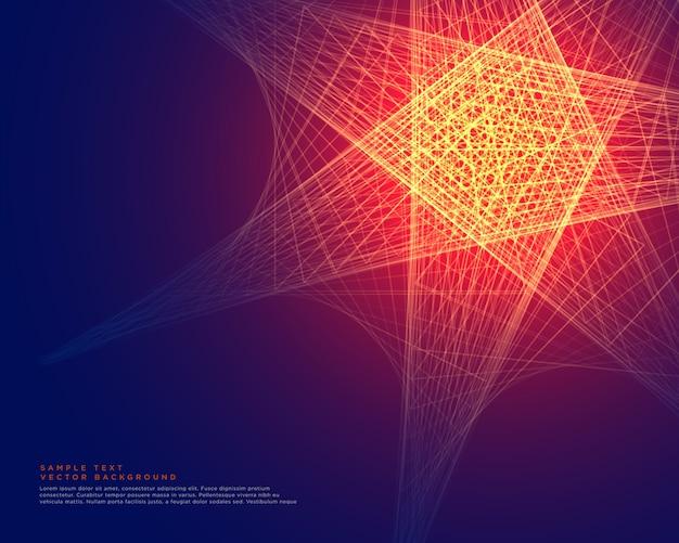 Disegno astratto sfondo linee incandescente