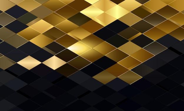 Fondo geometrico astratto del rombo dell'oro e del nero. il miglior design per il tuo business. Vettore Premium