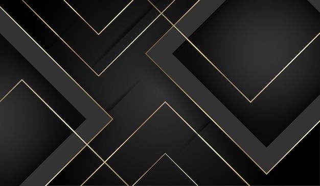 Oro astratto e sfondo di lusso nero