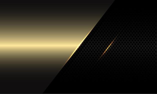 Lo spazio vuoto dell'oro astratto si sovrappone al design dell'ombra della maglia del cerchio nero