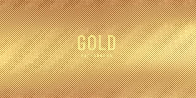 Fondo vago dorato astratto di stile di pendenza con strisce diagonali strutturate.