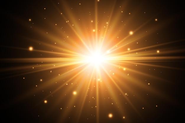 Lente solare anteriore dorata astratta