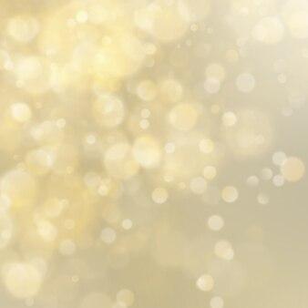 Priorità bassa defocused del bokeh di scintillio dorato astratto. modello di natale. luci natalizie.