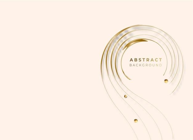 Abstract golden incandescente cerchio lucido linee effetto sfondo vettoriale. utilizzare per il design moderno, copertina, poster, modello, brochure, decorato, flyer, banner.