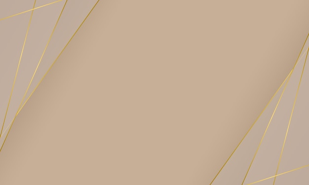 Linee dorate astratte con spazio vuoto per il testo. sfondo elegante per banner.