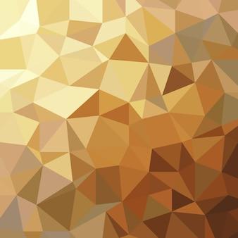 Illustrazione di lusso geometrico del poligono basso del triangolo dorato astratto