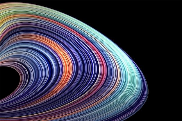 Astratto sfondo sfumato con forme geometriche e linee curve
