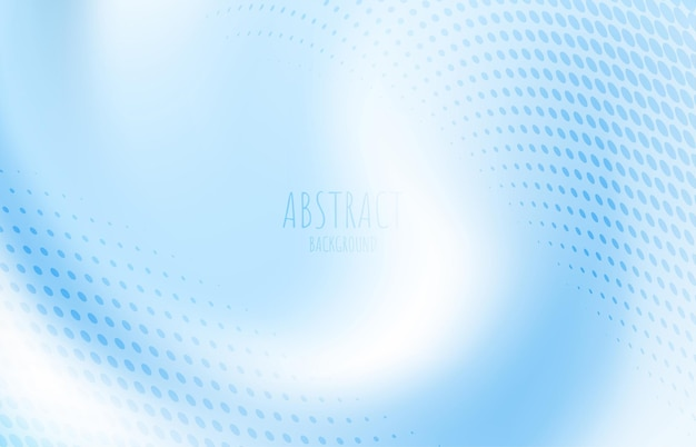 Modello di linea a strisce ondulate blu sfumato astratto con modello di mezzitoni. decora per pubblicità, poster, copertina. illustrazione vettoriale
