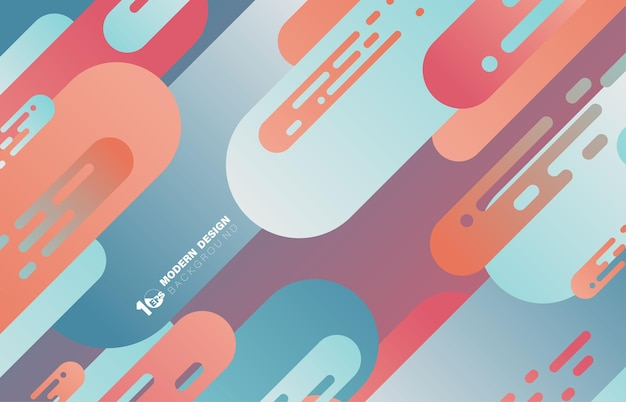 Abstract gradiente colore design linee arrotondate modello stripe line artwork modello. decorativo per poster, opere d'arte, sfondo di design. illustrazione vettoriale