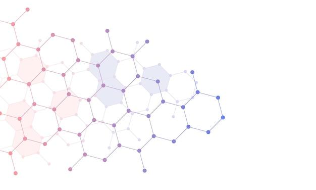 Fondo astratto di esagono del collegamento di pendenza. illustrazione vettoriale. design intelligente per gli annunci aziendali.