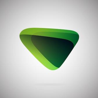 Gradiente astratto icona geometrica illustrazione vettoriale colorato verde blanc color