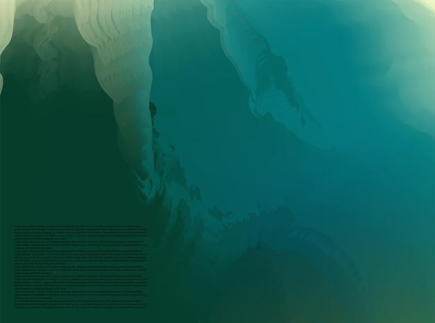 Abstract gradiente mesh morbido verde blu miscela di colore alla moda sfondo vettoriale