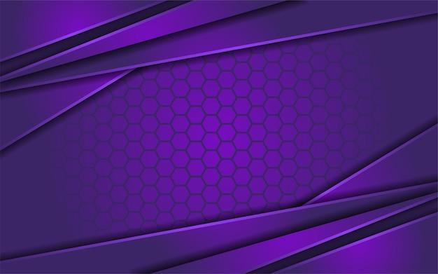 Viola sfumato astratto con sfondo texture esagonale Vettore Premium
