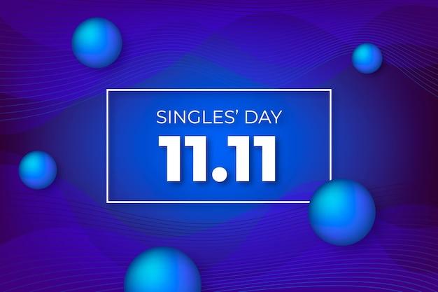 Giornata dei single a gradiente astratto