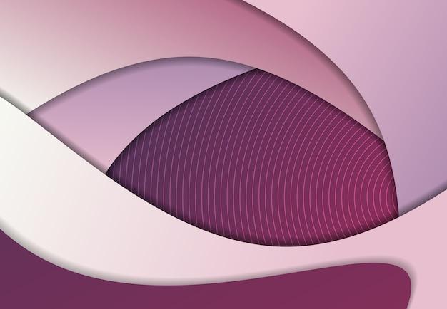 Progettazione viola e bianca di pendenza astratta del fondo decorativo geometrico del materiale illustrativo.