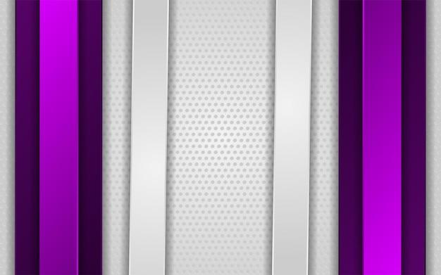 Sfondo bianco sfumato astratto con linea viola Vettore Premium
