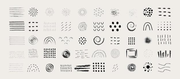 Elementi grafici astratti in stile minimal alla moda
