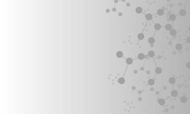 Fondo grigio astratto della struttura delle molecole. modello per annunci, volantini.
