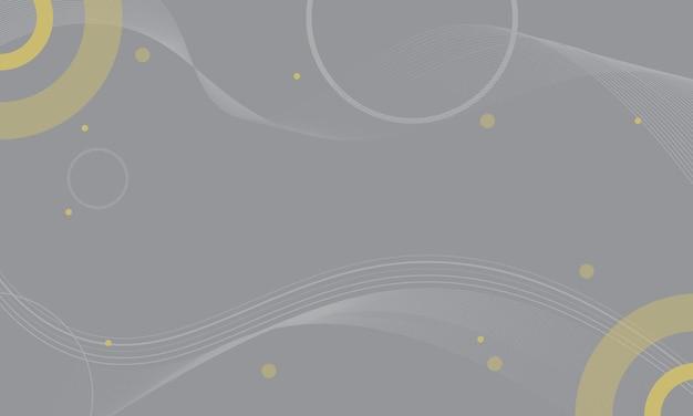 Sfondo astratto grigio e giallo ondulato e cerchio. modello per opuscoli, volantini.