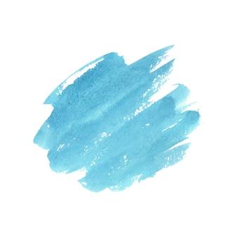 Acquerello astratto verde e blu su sfondo bianco.