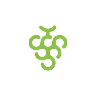 Logo astratto dell'uva verde