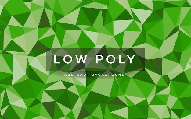 Trama di sfondo verde astratto basso poli