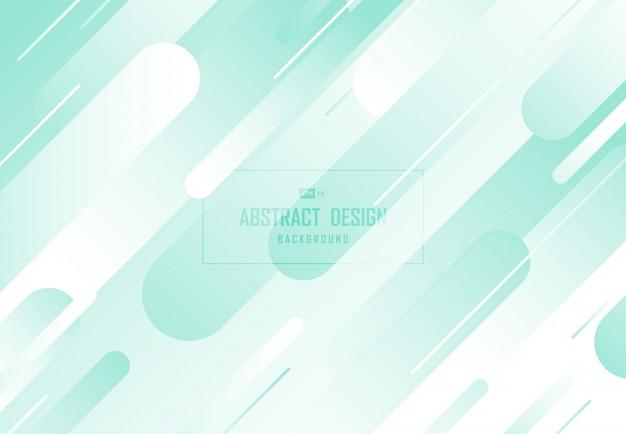 Progettazione verde astratta della menta della linea fondo decorativo.