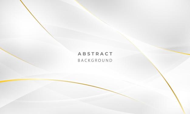 Manifesto astratto sfondo grigio e oro con onde dinamiche. illustrazione della rete di tecnologia.