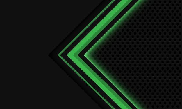 La maglia del cerchio della freccia della luce verde grigia astratta progetta il fondo futuristico di lusso moderno di tecnologia