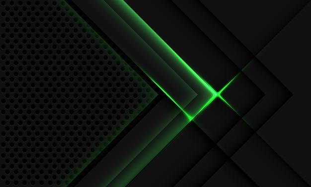 Abstract grigio metallizzato sovrapposizione luce verde cerchio mesh design moderno lusso tecnologia futuristica