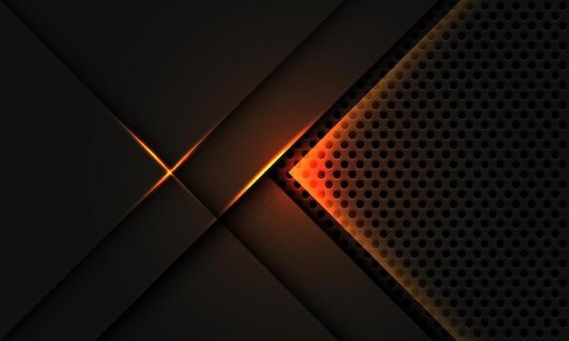 Abstract grigio metallizzato sovrapposizione luce gialla cerchio mesh design moderno lusso tecnologia futuristica