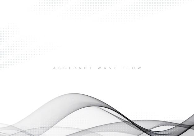Astratto grigio moderno astratto linea gradiente futuristico liscio swoosh certificato sfondo