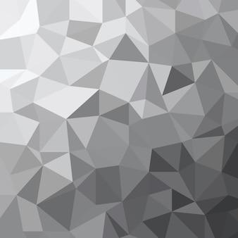 Illustrazione astratta di struttura geometrica del poligono basso del triangolo di tono di grigio