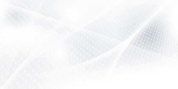 Fondo bianco grigio astratto con onde dinamiche. tecnologia