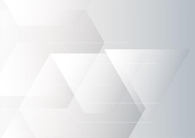 Fondo geometrico grigio e bianco astratto di progettazione corporativa di tecnologia